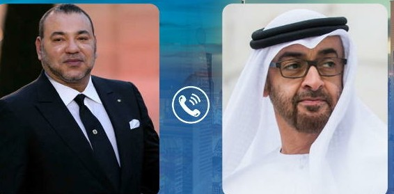 محادثة هاتفية بين الملك محمد السادس نصره الله و ولي عهد الإمارات العربية المتحدة