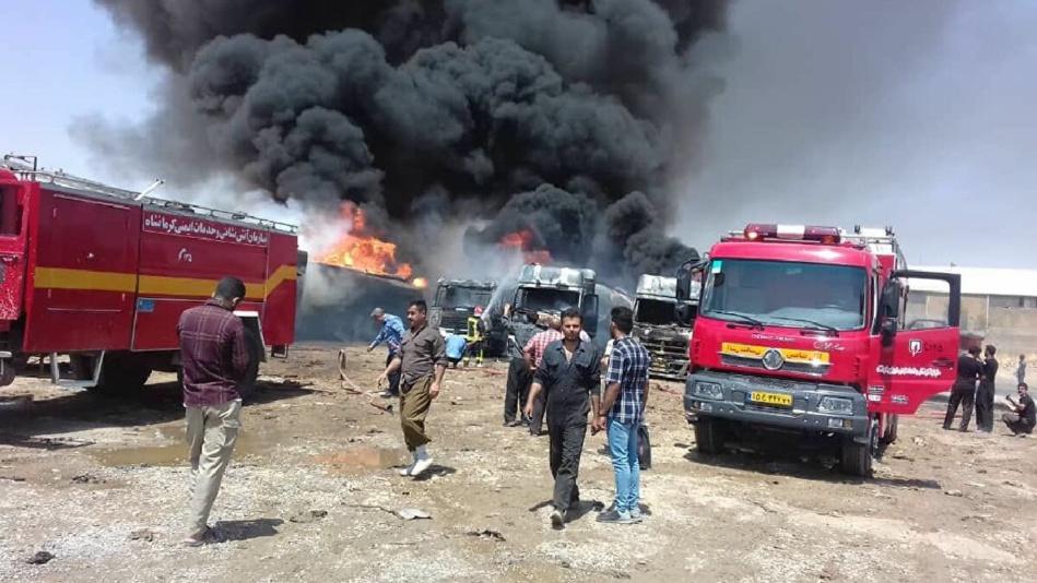 مقتل 6 أشخاص في انفجار بطهران + فيديو
