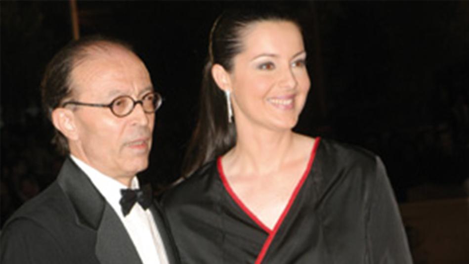 «لاركيط» ترثي زوجها نور الدين الصايل «العاشق السينمائي العظيم»