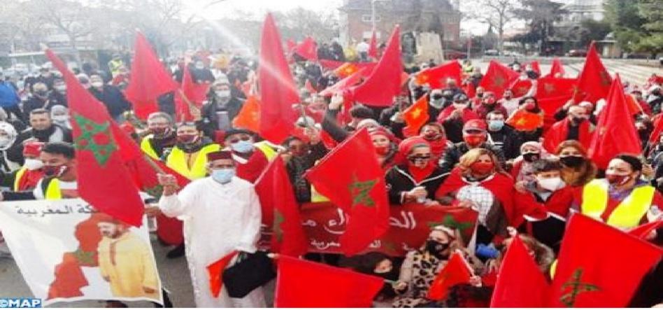 مسيرة بمدريد لمغاربة إسبانيا احتفاءً بالإعتراف الأمريكي بسيادة المغرب على صحرائه