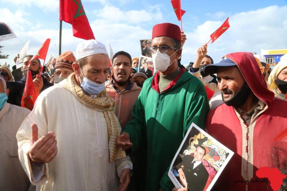 تظاهرة بمراكش إحتفاءً بالإعتراف الأمريكي بسيادة المغرب التامة على صحرائه