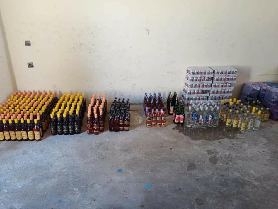 حجز 1500 قنينة من الخمور ضواحي القصر الكبير