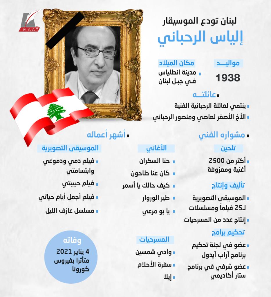 نجوم في عالم الفن والسياسية ينعون الموسيقار اللبناني الكبير «إلياس الرحباني»