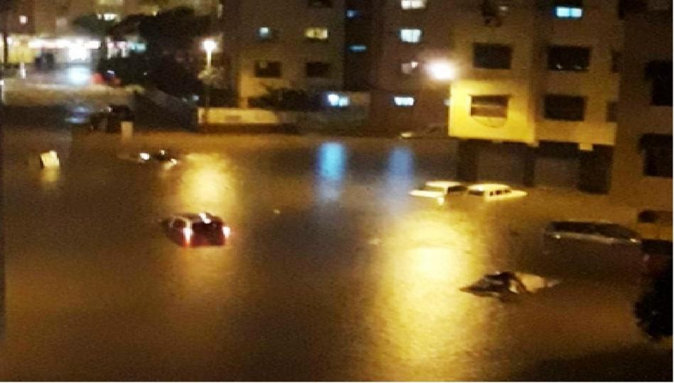شوارع «مدينة الدار البيضاء» تَغْرَقْ