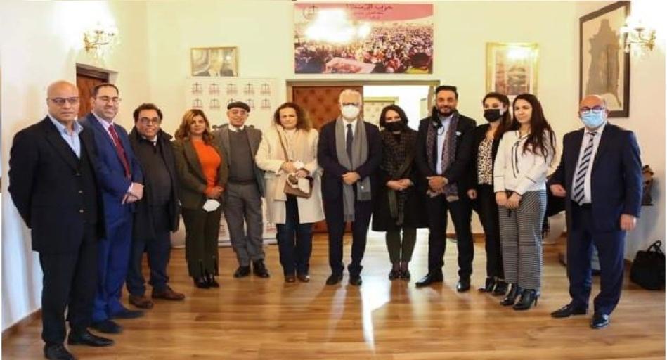 ممثلو تنسيقية الأحزاب السياسية المغربية بالخارج في ضيافة حزب الاستقلال