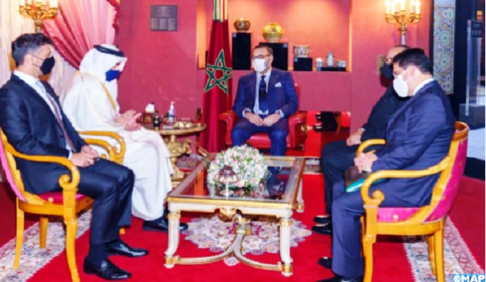 جلالة الملك محمد السادس يستقبل وزير الخارجية الإماراتي بفاس