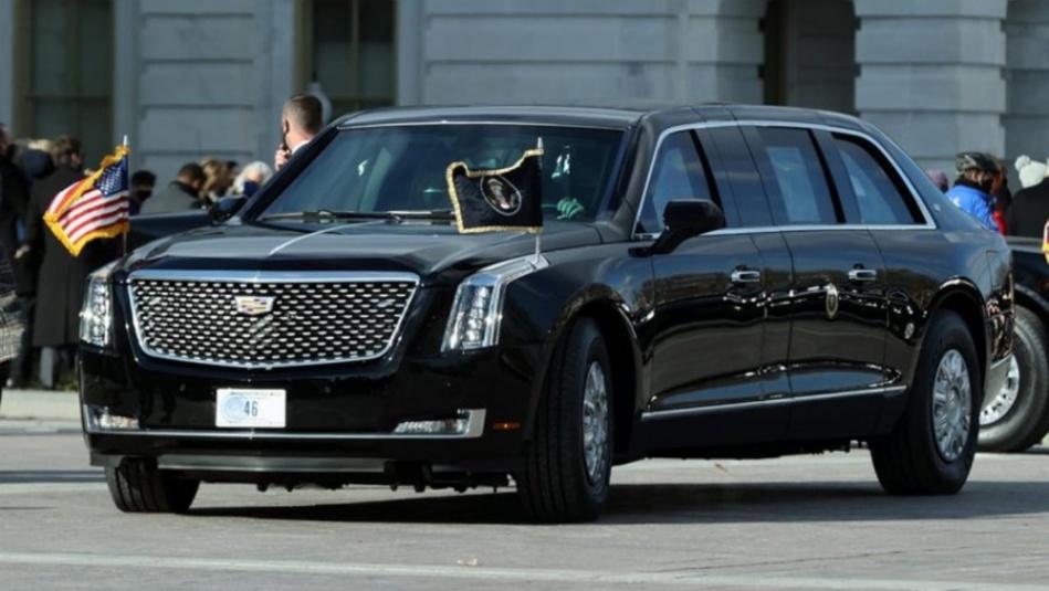 سر وجود رقم 46 على لوحة سيارة الرئيس الأمريكي بايدن