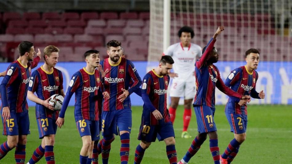 ريمونتادا على إشبيلية تعبر ببرشلونة إلى نهائي كأس ملك إسبانيا