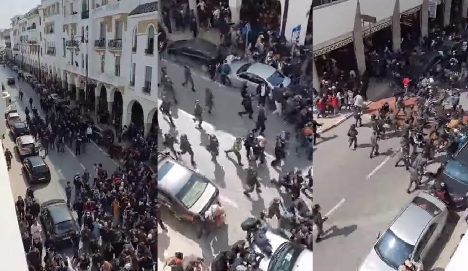 """وسم """"احموا الأساتذة في المغرب"""" يجتاح منصات التواصل الاجتماعي"""