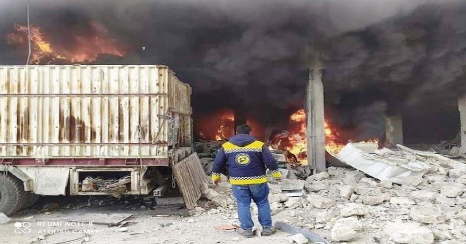 قتلى وجرحى بانفجار ضخم في ريف حلب