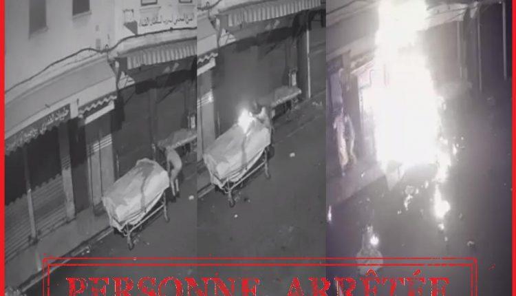 توقيف شخص قام بإضرام النار عمدا في عربة للبضائع بالبيضاء