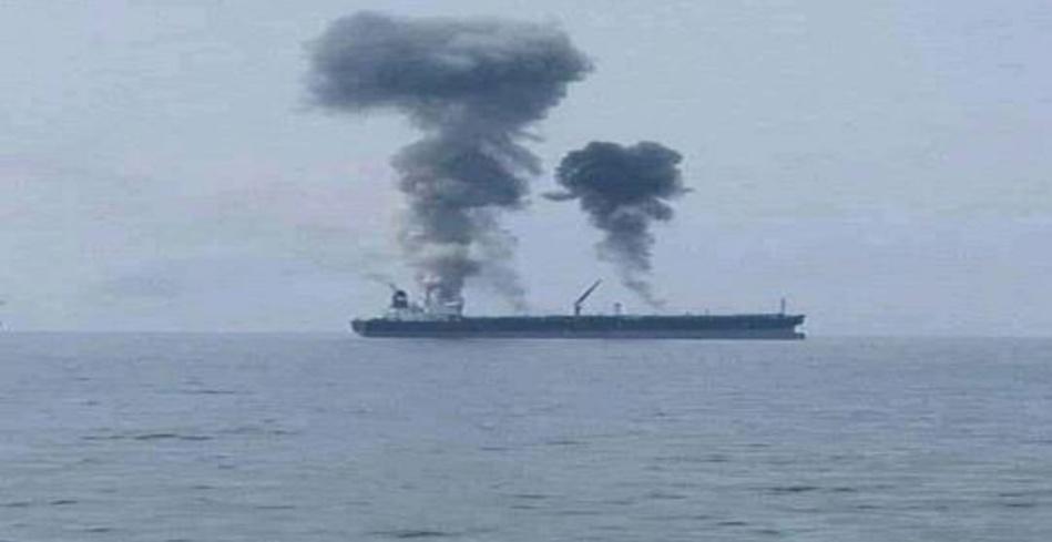 انفجار في ناقلة نفط قبالة ساحل بانياس بسوريا