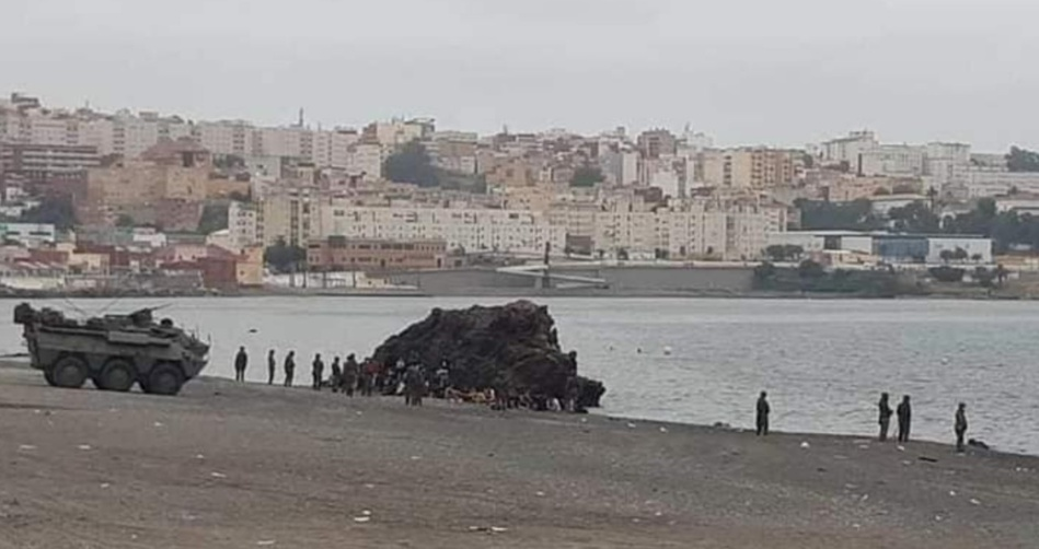 عاجل: إنزال عسكري إسباني مكثف بالحدود الوهمية بسبتة المحتلة