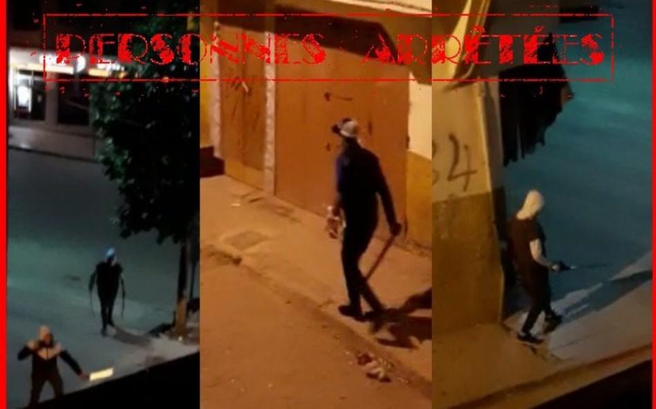 فيديو يوثق أشخاصا مدججين بأسلحة بيضاء يستنفر شرطة الحاجب