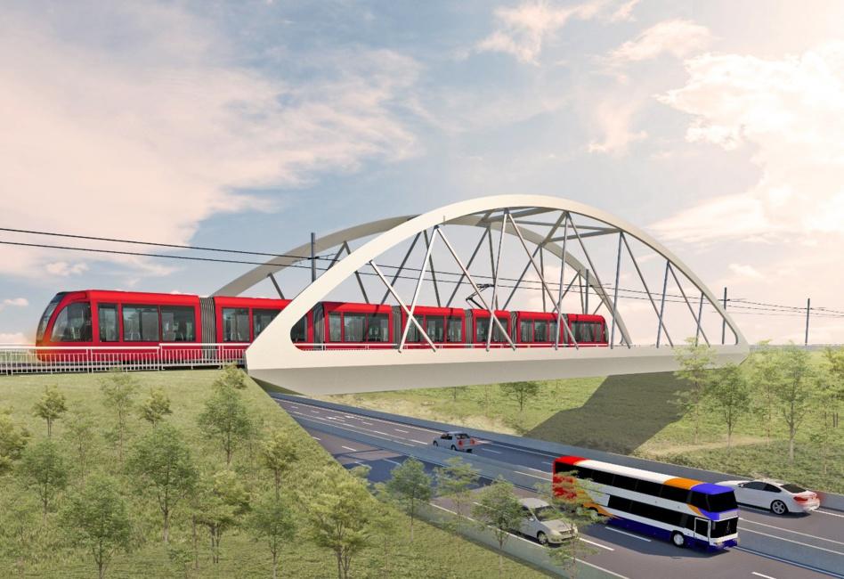 """انطلاقة أشغال تثبيت الجسر المقوس للخط الرابع لـ""""طرامواي"""" بشارع أولاد زيان بالدار البيضاء"""