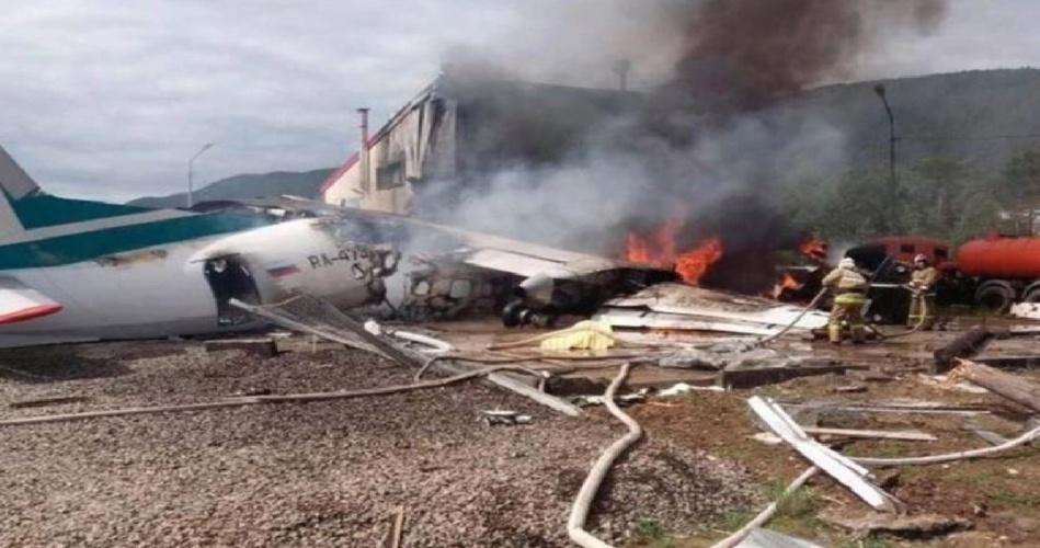 تحطم طائرة على متنها 34 شخصاً في روسيا!