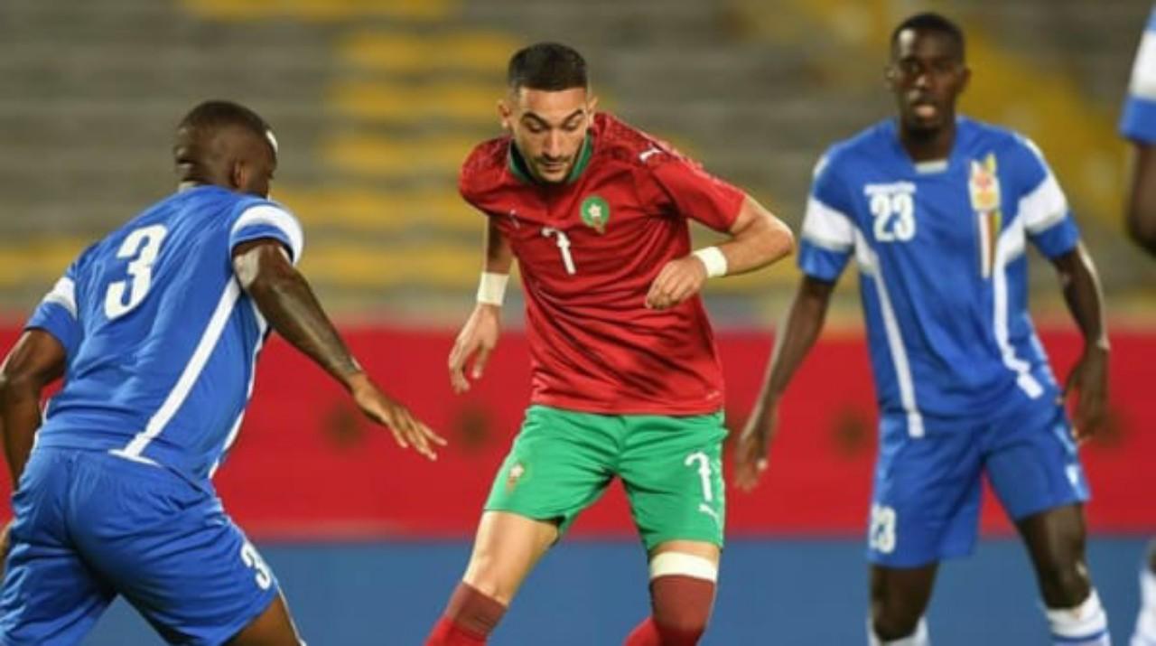 المغرب ينتصر على افريقيا الوسطى ويعتلي الصدارة