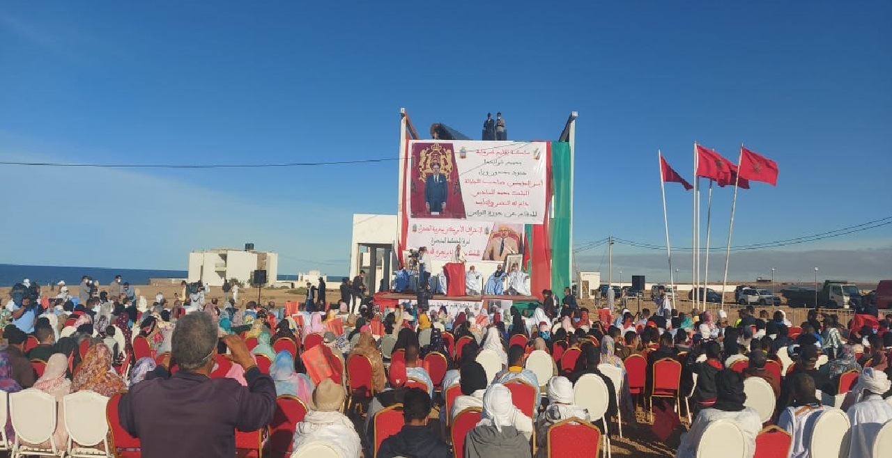 ساكنة طرفاية تحتفي بنجاحات الدبلوماسية المغربية