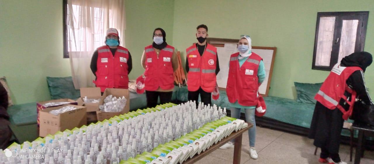 التعبئة المجتمعية ضد وباء كوفيد 19 بالمؤسسات التعليمية لابن مسيك