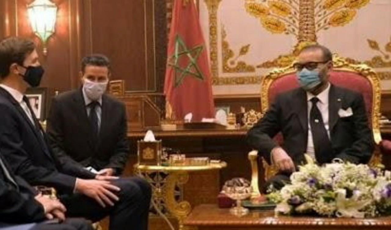 جلالة الملك محمد السادس يستقبل كوشنر وبن شبات في  وفد دبلوماسي مشترك