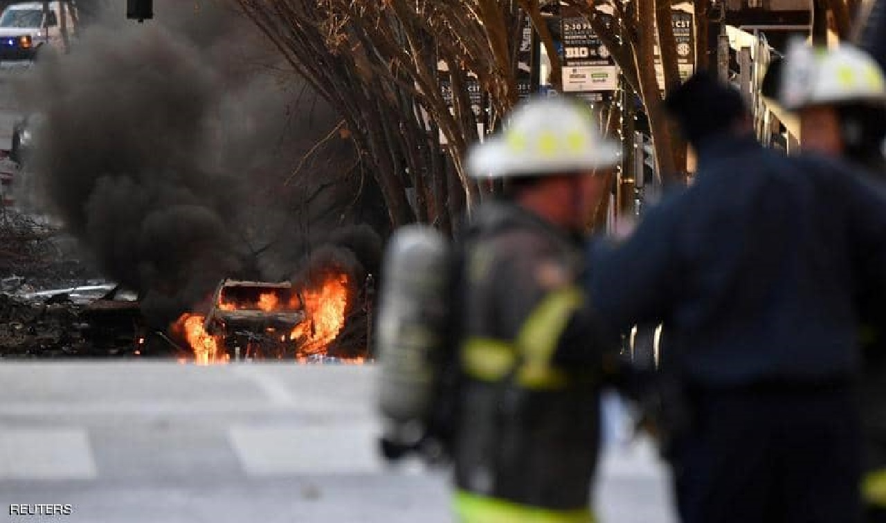 إنتشال أشلاء بشرية من موقع الإنفجار الكبير في ناشفيل
