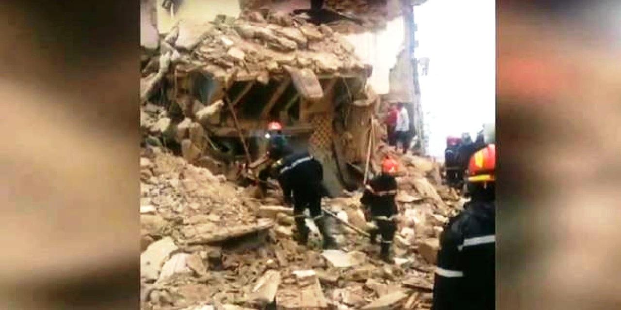 انهيار منزل بالدار البيضاء إثر التساقطات المطرية وجاري البحث عن مفقودين