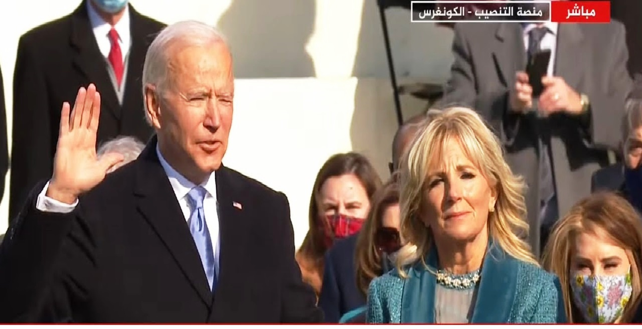 شاهد لحظة أداء جو بايدن اليمين الدستورية رئيساً للولايات المتحدة الأمريكية