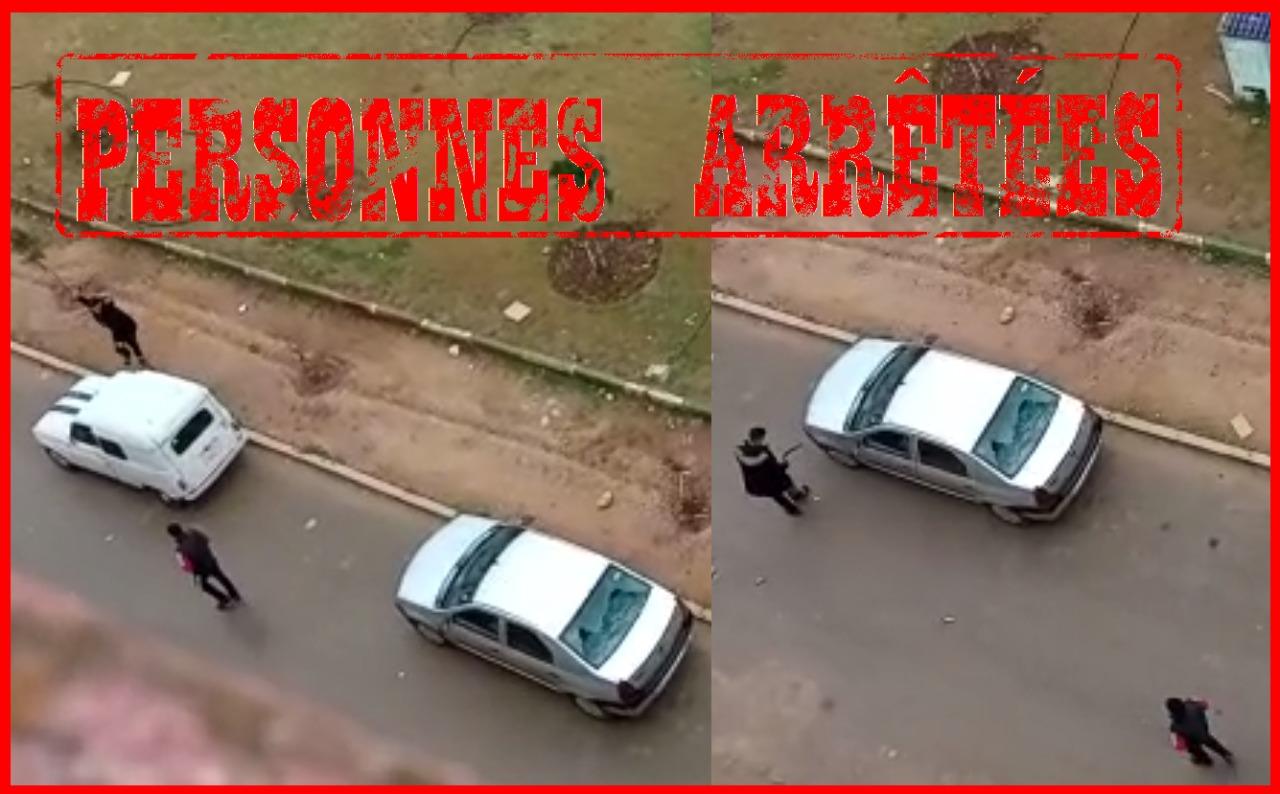 أمن مكناس يتفاعل مع مقطع فيديو لقاصر قام بتكسير سيارات متوقفة