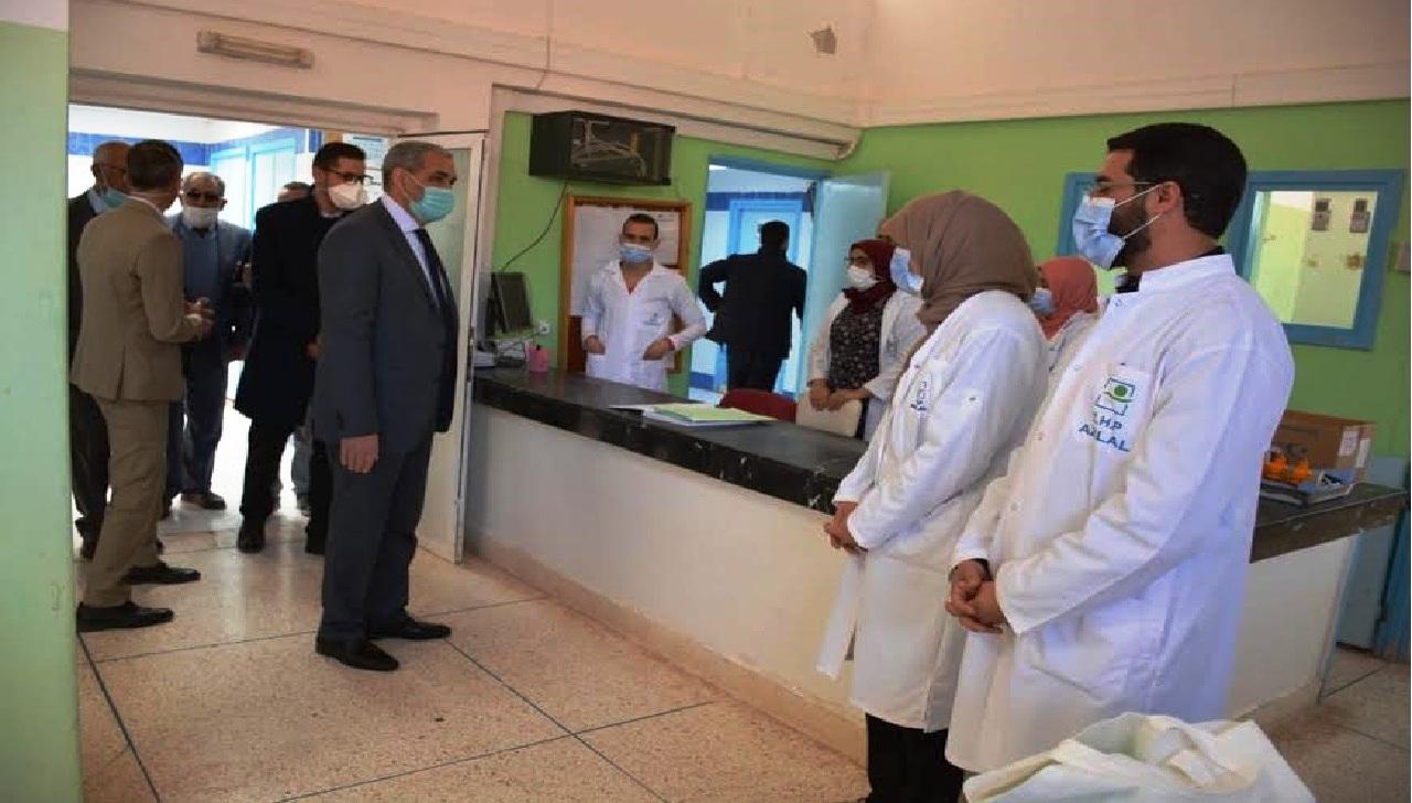 بالصور.. عامل إقليم أزيلال يشرف على مشاريع تهم مرضى القصور الكلوي