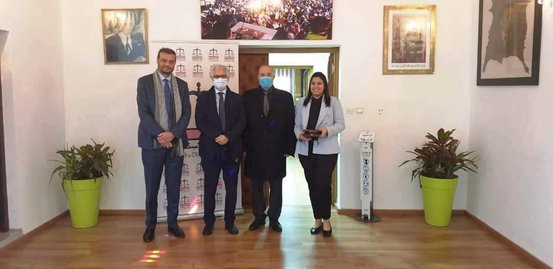 """رسميا.. الدكتور نزار بركة الأمين العام لحزب الاستقلال يستقبل """"سمير راديوس"""" وابنته الملتحقين بالحزب"""