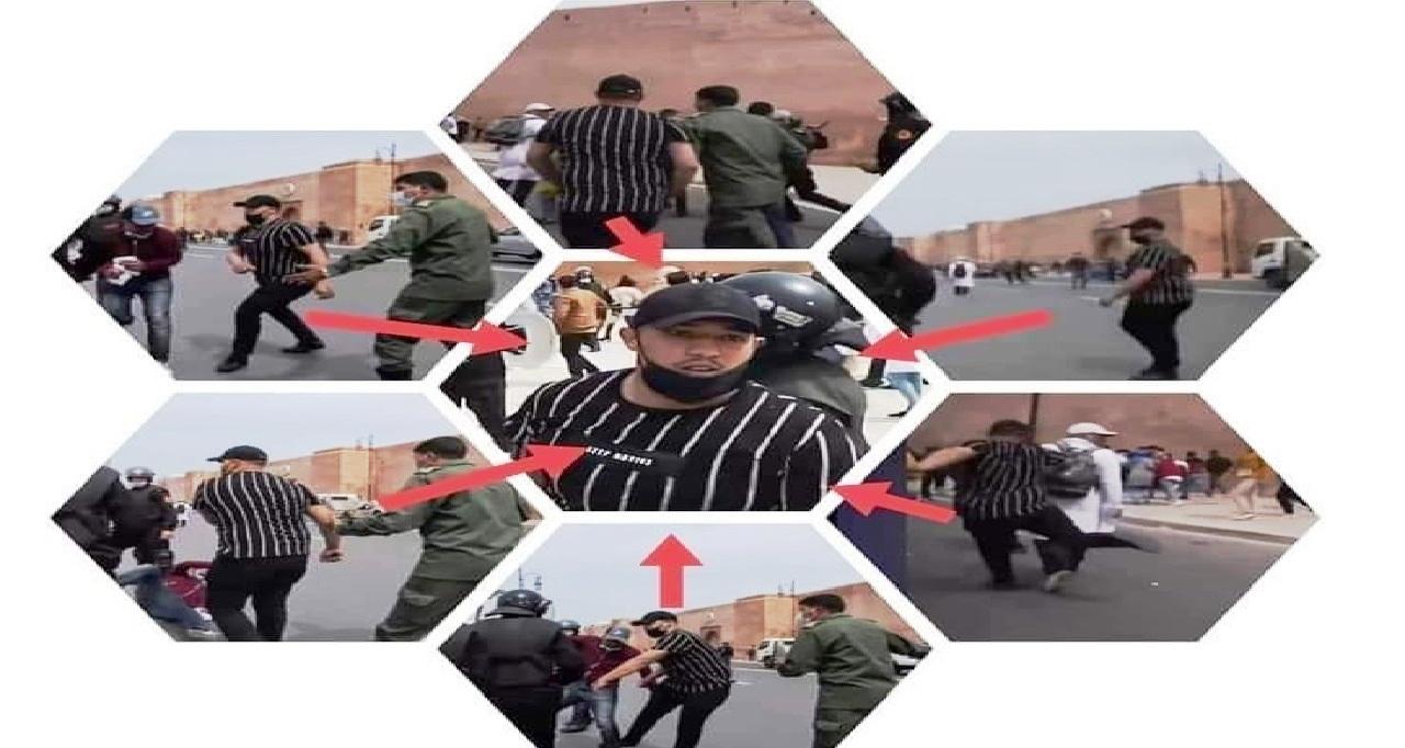 عاجل.. توقيف معنف الأساتذة في المسيرة الاحتجاجية بالرباط