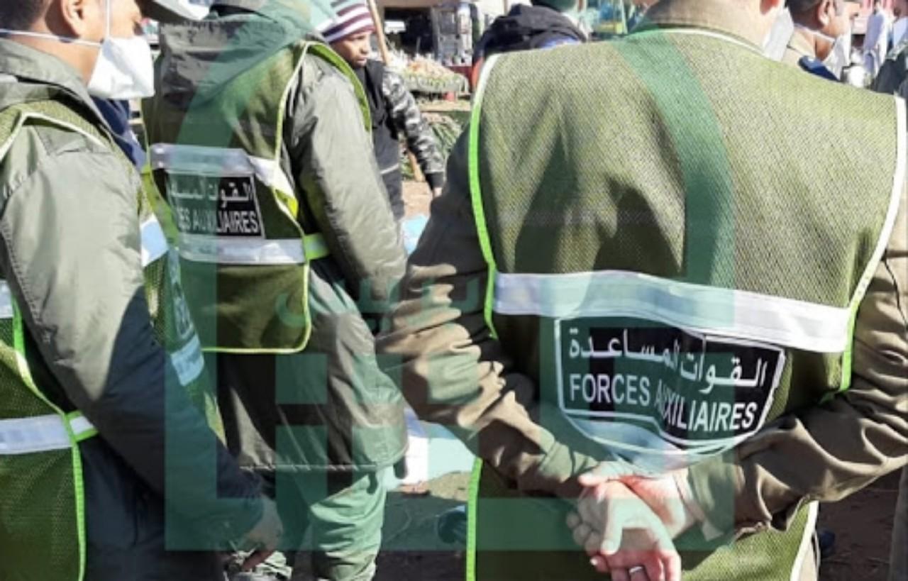 عنصر من القوات المساعدة يتعرض لطعنة سكين من طرف أحد الباعة المتجولين بمراكش
