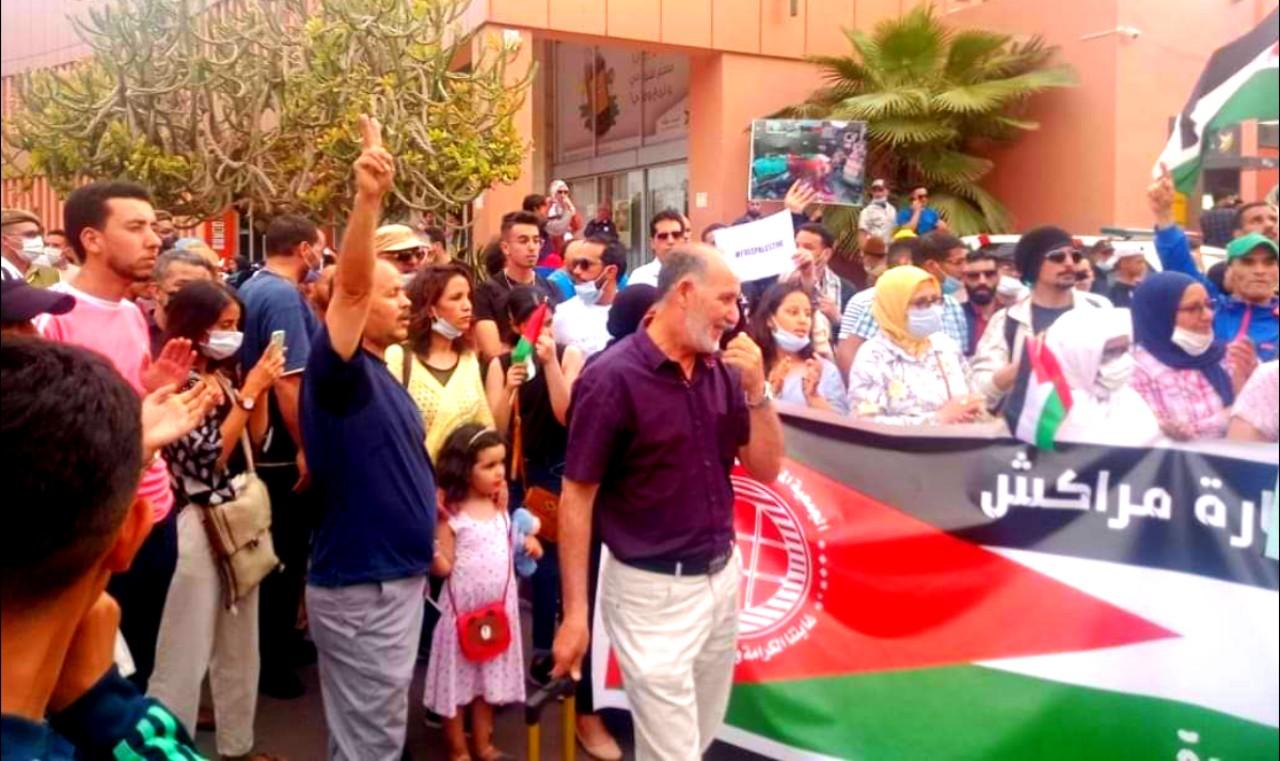 وقفة احتجاجية بمراكش تنديدا بجرائم العدوان الصهيوني