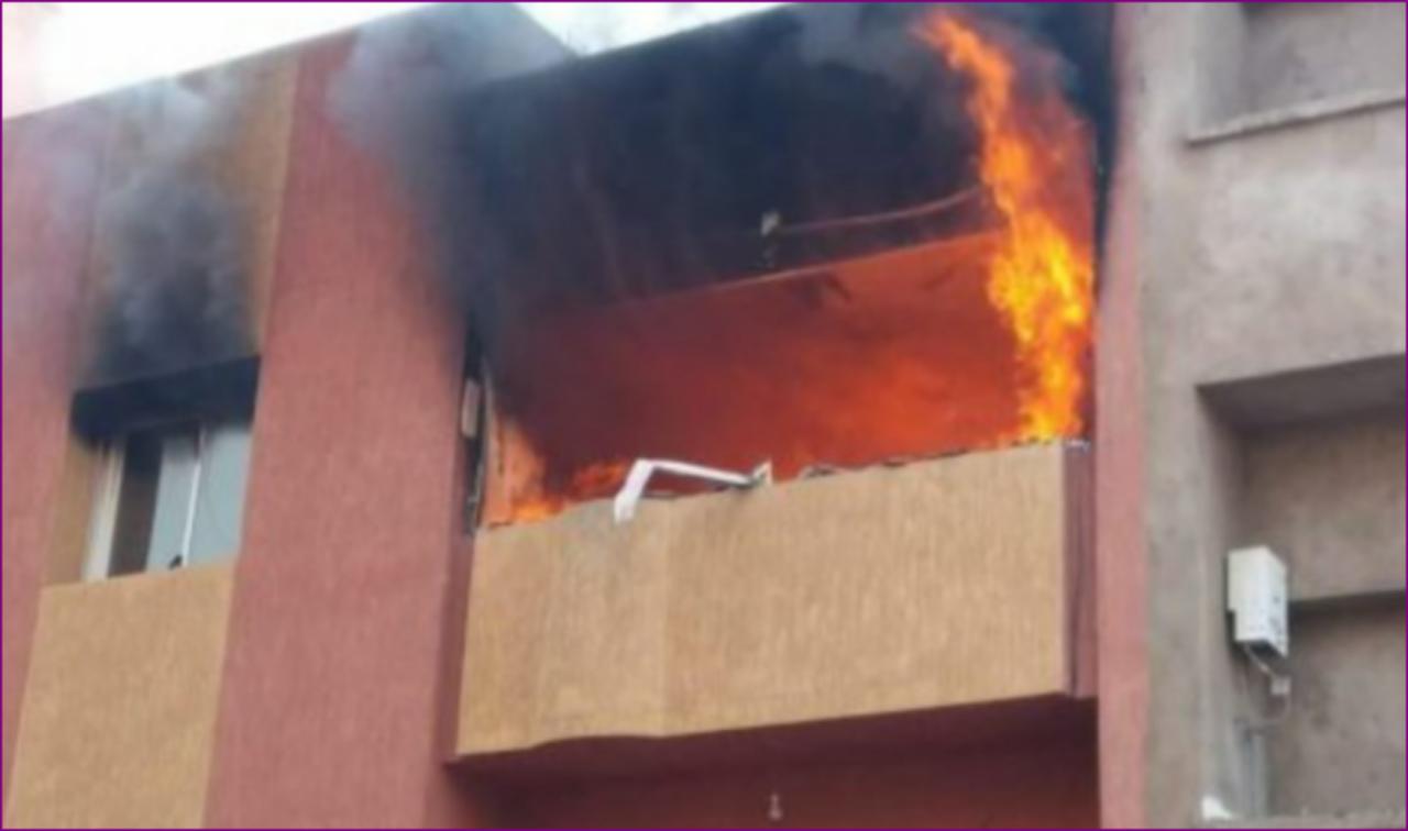 وفاة طفلة بسبب حريق مهول بحي للامريم