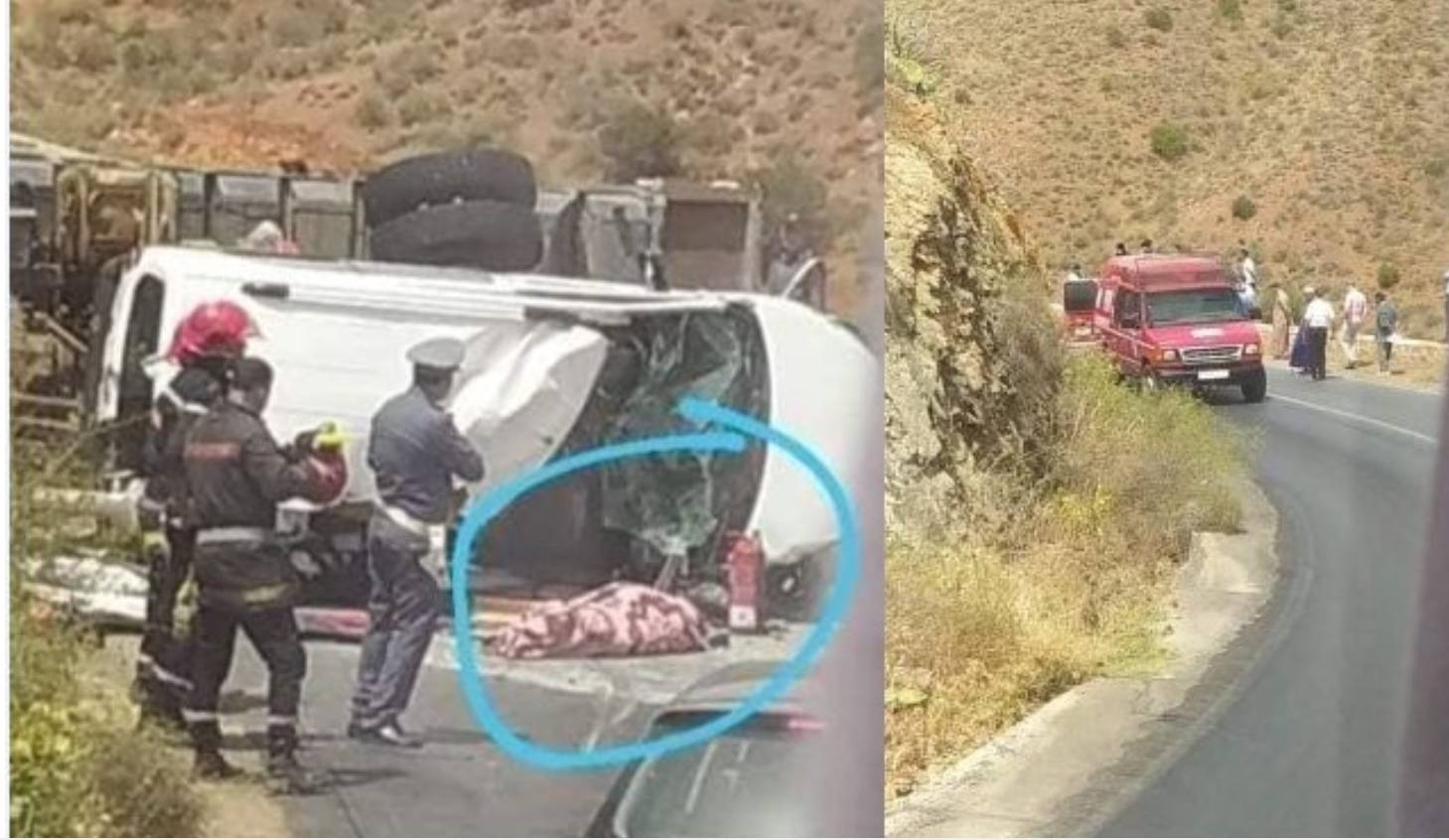 مصرع شخصين وإصابة خمسة آخرين في حادثة سير مميتة ضواحي سيدي إفني
