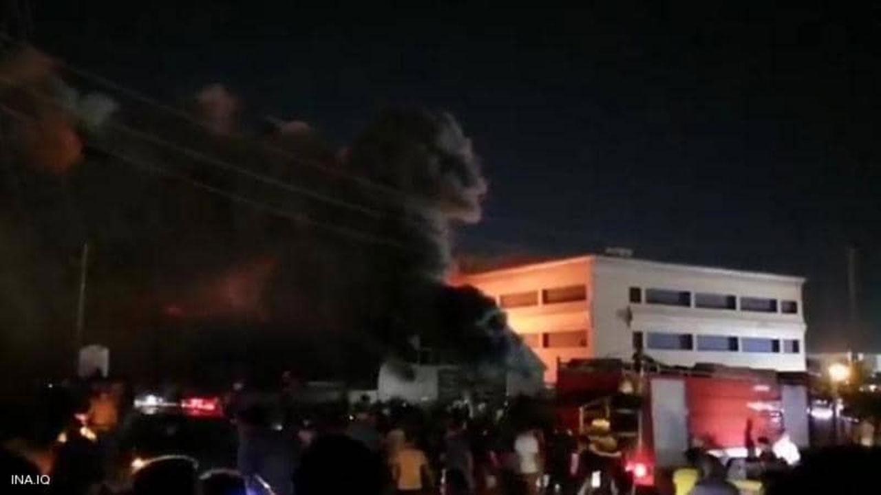 ارتفاع ضحايا الحريق الهائل في مستشفى الناصرية بالعراق