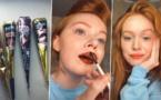 عارضة أزياء أمريكية تستخدم الحناء كأحمر شفاه