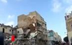 شاهد لحظة انهيار منزل بالبيضاء