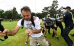"""احتجاجات واشتباكات مع الشرطة في أستراليا """"رفضا للتطعيم ضد كورونا"""""""