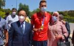 بالصور: المغرب يستقبل حاصد الذهب الأولمبي في حفل بهيج